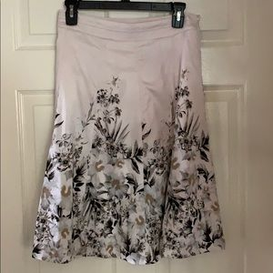 Beautiful Cream with Floral Print Skirt